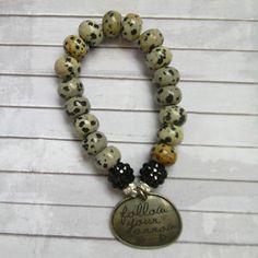 """Follow Your Arrow"" Quote Beaded Stretch Bracelet with Unusual Beads | eBay"