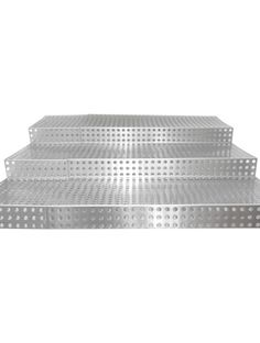 Large Deli Riser Perforated Stainless Steel - Display Decoration