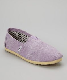 Take a look at this Lilac Slip-On Shoe by Shoes of Soul on #zulily today!