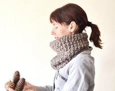 knit cowl scarf chunky cowl christmas gift|for|women outdoors gift winter scarf loop scarf neck warmer birthday gift|for|wife womens scarves