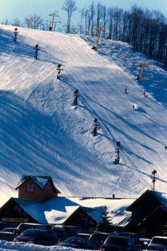 Skiing at Nubs Nob, Harbor Springs