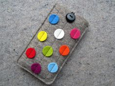 Dx10  iPhone 5 felt sleeve iPhone 5 case by anrohr on Etsy, $26.90