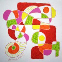 """""""Et voilà ! """"  Little abstract courbisme painting, acrylic & gouaches, 30x30cm canvas, Princesspiedsnus 21 fev. 2016, France #art #peinture #Princesspiedsnus #abstrait  #abstract #arte #sunny # #colours # #colors #happyness #joie #living #artist #artiste #vivante #contemporain #contemporaryart"""