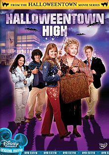 """Ghouls go to school! Agatha and Marnie arrange an exchange student program between Halloweentown and Marnie's hometown. Spooky students played by Disney kids including """"Ryan and Kelsi of East High,"""" who use human suits to cover up their munster - er, monster appearances."""