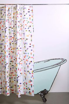Dotty Artist Cotton Shower Curtain ( Waterproof ) by Sophie Probst Shower Curtains, Artist At Work, Unique Art, Panama, Prints, Cotton, Handmade, Home Decor, Craft