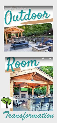 """Transform your backyard into an EXTRA room -""""out""""side the house - yep - take it outdoors to get sports scores and comraderie . . . offset weather with roll-up or power screens - Game on! Outdoor Fun, Outdoor Ideas, Covered Outdoor Kitchens, Sports Scores, Outdoor Living Rooms, Kitchen Board, Extra Rooms, Yard Design, Click Photo"""