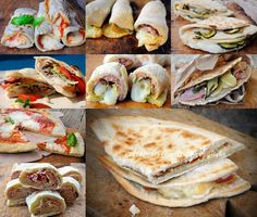Ricette con piadina idee semplici e sfiziose vickyart arte in cucina Slider Sandwiches, Panini Sandwiches, Kids Meals, Easy Meals, Panini Recipes, Brunch, Quiche, Food Places, Quick Snacks