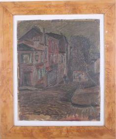 """Laible, Otto (Haslach in the Kinzigtal 1898 - 1962 Karlsruhe) . Paris"""", oil / Pappe., at the bottom on the right signed and dated: O. Laible Paris 25, behind glass framed, approximate 34x28 cm (18) """"  Dealer Badisches Auktionshaus  Auction Minimum Bid: 220.00EUR"""