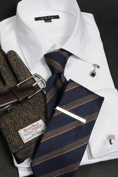 ブラウン系スーツやジャケットに合わせたコーディネート 8008-V09A