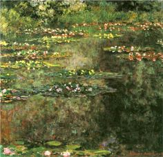 Water Lilies - Claude Monet  Expressionistic Impressionistic Painting in the Process
