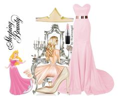 """Aurora Princess #2"" by cartoongirl ❤ liked on Polyvore featuring WALL, Gianvito Rossi and MAC Cosmetics"