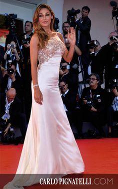 Anna Tatangelo wearing #carlopignatelli on the #redcarpet at the Venice Film Festival #venezia71