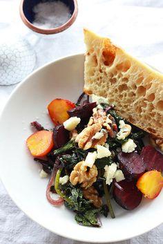 Warm Beet Salad with Blue Cheese & Walnuts!!!