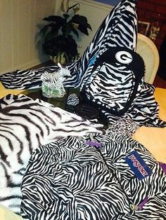Zebra Lot Backpack , Blanket, Bathroom Decor