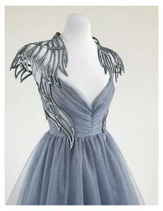 Pretty Outfits, Pretty Dresses, Beautiful Dresses, Ball Dresses, Ball Gowns, Formal Dresses, Black Angel Costume, Nike Air Tailwind, Mode Rock