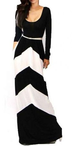 Comfy Round Neck Long Sleeve Maxi Dress for Woman