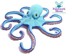 ** This listing is for a Crochet Pattern only NOT a finished item. It is a listing for a downloadable pdf file with the instructions on how to crochet an octopus for yourself ** This pattern is only available in the English language. Claude the Octopus lives in a large cave under the sea, where he tends his award winning sea garden. On weekends he hunts high and low for new star fish to add to his collection. Hes sure hed have the biggest collection around, if his samples didnt keep…