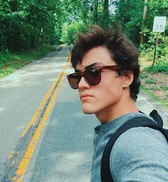 """Ethan Dolan ✨: """"Longboarded thru town today These are my sisters sunglasses""""."""