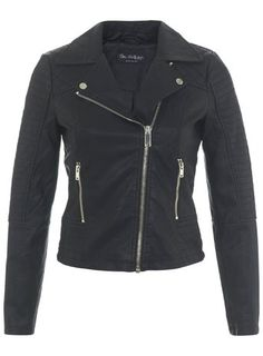 From Miss Selfridge, ruby faux leather biker jacket with light gold coloured metalwear. Please note, Miss Selfridge sizing can sometimes come up small, please refer to the size guide on the left to find your perfect fit. Short Black Jacket, Black Biker Jacket, Black Faux Leather Jacket, Vegan Leather Jacket, Faux Leather Jackets, Moto Jacket, Motorcycle Jacket, Miss Selfridge, E Biker