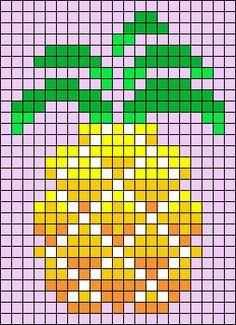 Cross Stitch Fruit, Cross Stitch Bookmarks, Beaded Cross Stitch, Cross Stitch Embroidery, Pearler Bead Patterns, Bead Loom Patterns, Beading Patterns, Easy Cross Stitch Patterns, Simple Cross Stitch