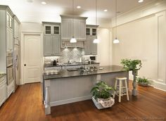 Pictures of Kitchens - Traditional - Gray Kitchen Cabinets
