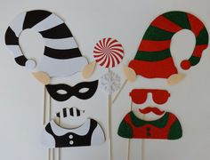 Chirstmast Photo Booth Props  Good and Bad Elf by LUCIOUSMAXIMUS, $55.00