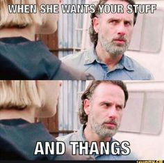 """That was funny and creepy at the same time. The Walking Dead S07 E16 """"The First Day of the Rest of Your Life."""" Season 7 Episode 16. #twd"""