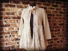Romantic Upcycled Capelet Sweater// Large// by emmevielle on Etsy, $69.00