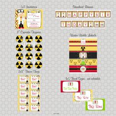 Science Birthday Party  Printables by SwishPrintables on Etsy