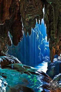 Iris Cave, Monasterio de Piedra, Zaragoza, Spain.