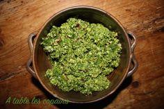 Pesto de fanes de radis - A table les copains