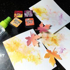 art scrap & more: alexandra's Sunday scrapbooking - Distress Ink Smooshing + Creative Die