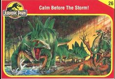 Jurassic Park Trading Cards Jurassic Park Trilogy, Jurassic Park Toys, Jurassic Park 1993, Jurassic World Characters, Before The Dawn, Michael Crichton, Prehistoric Creatures, Parking Design, Science Fiction
