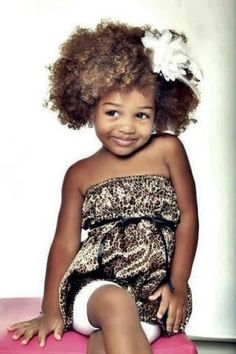 Cute afro hairstyle for kids