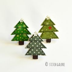 Stitch Galore embroidered textile gifts made in Staffordshire England Fabric Christmas Trees, Handmade Christmas Tree, Little Christmas Trees, Felt Christmas Ornaments, Christmas Tree Decorations, Country Christmas, Christmas Stuff, Freehand Machine Embroidery, Free Motion Embroidery