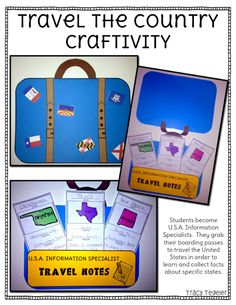 If your not sure how to teach information about the U.S. to your students.. you should grab the freebie from my pack!! Have your kiddos travel the country with their own luggage!