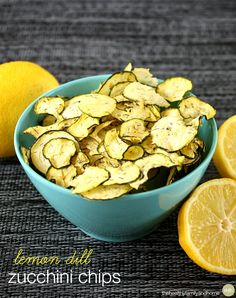 Lemon Dill Zucchini Chips | The Healthy Family and Home
