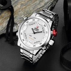 BINZI Military Waterproof Men's Watch LED Digital Sport Wristwatch Casual White Dial Outdoor Watch for boys: Amazon.ca: Watches