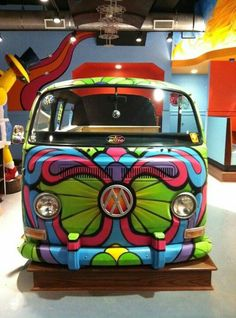 Vw bus butterfly paint job