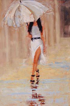 Undercover Painting by Laura Lee Zanghetti
