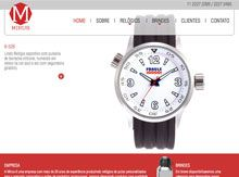 Layout de Site Criado para a Empresa Mirus Relógios #criative #site #criacaodesites #brindes #agencia #comunicacaovisual www.visiondesign.com.br