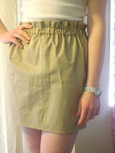 Super easy skirt. Add a bow belt