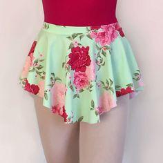 Add a beautiful floral to your dance wardrobe! Dance Ballet SAB Skirt Lycra/ Spandex by RoyallDancewear