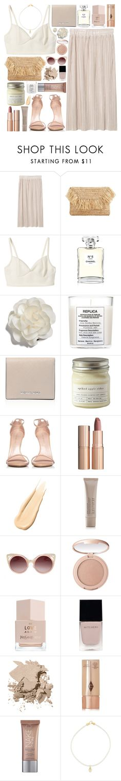"""Wanaka"" by ladyvalkyrie ❤ liked on Polyvore featuring MANGO, Chanel, Cara, Maison Margiela, MICHAEL Michael Kors, Brooklyn Candle Studio, Stuart Weitzman, Charlotte Tilbury, Hourglass Cosmetics and Laura Mercier"