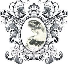 l Antique Prints, Vintage Prints, Vintage Posters, Vintage Pictures, Zentangle, Illustration Blume, Wood Carving Designs, Decoupage Art, Decoupage