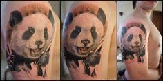 Panda head tattoo by grimmy3d