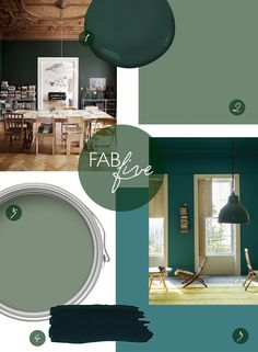 Fab Five // Our Fave Green Paint Colors - Inspiration