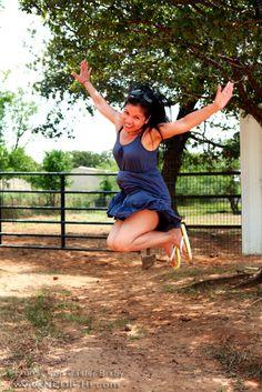 Title: Jump - No. 014 - Location - Daddy Mac's Ranch, Joshua, Texas - Date: June 2012 - Photo: Lon Casler Bixby - Web: www.neoichi.com - Model: Nonie