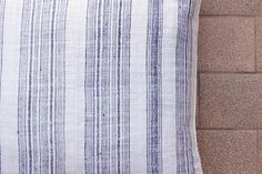 VINTAGE Hand Woven HEMP Organic HMONG Ethnic A Piece Of Tribal Textile Striped Blue Pillow Cover T92 by Tshaj on Etsy https://www.etsy.com/listing/226661447/vintage-hand-woven-hemp-organic-hmong