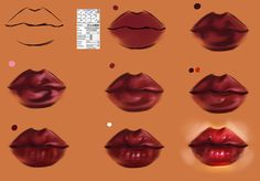Lips step by step -tutorial brush settings by ryky